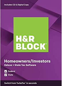H&R Block 2019, Deluxe + State, for PC/Mac