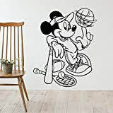 Tianpengyuanshuai Etiqueta de la Pared del Deporte del ratón del béisbol Etiqueta de la Pared de Vinilo para la habitación del bebé de Dibujos Animados extraíble 87X144 cm