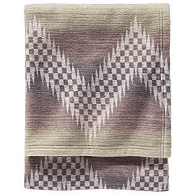 PENDLETON MACHINE WASHABLE WILLOW BASKET FOG QUEEN BLANKET