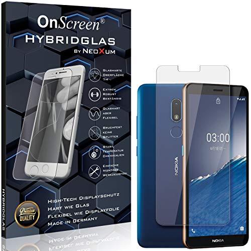 OnScreen Schutzfolie Panzerglas kompatibel mit Nokia C3 2020 Panzer-Glas-Folie = biegsames HYBRIDGLAS, Bildschirmschutzfolie, splitterfrei, MATT, Anti-Reflex - entspiegelnd