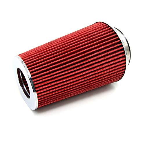 QREAEDZ Kits AUTOMO AUTOMÁTICO Carrera DE CARRERO DE AGUAJE DE Aire Filtro DE Aire Filtro DE Aire 3'115 mm Conero de Filtro de Cono Rojo (Color : Red)