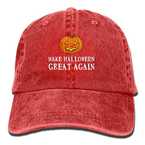 leyhjai 2017 Funny Pumpkin Make Halloween Great Again Vintage Adjustable Jeans Cap Baseball Cap for Man and Woman