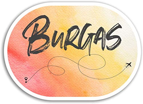 Lplpol (3 PCS/Pack) Burgas Vinyl Stickers - Bulgaria Travel Sticker Luggage Laptop #17905 Graffiti Bumper Stickers for Teens, Girls, Women Vinyl Stickers - 4 inches