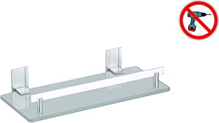 MSV Estante DE Aluminio Y Vidrio TABARCA 30X13 CM, Cromado, 30x30x13 cm