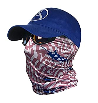 Hook & Tackle Neck & Face Gaiters | Scarves | Masks | Shields | Sun Protection| Stars & Stripes Red