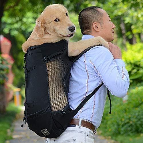 ZZQ Sac de Transport Respirant pour Chien pour Gros Chiens Golden Retriever Bulldog Sac à Dos Réglable Grand Chien Voyage Sacs Animaux Produits,XL