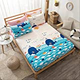 1 pcs Cartoon Animal Print Literie Literie Draps-Couverts Draps Couvre-Matelas...
