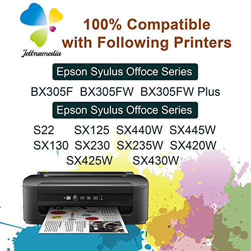 T1285 Cartuchos de tinta compatibles para Epson T1281 T1282 T1283 T1284 T1285 Negro Cian Magenta Amarillo Trabaja con Epson Stylus SX125 SX130 SX230 SX235W SX420W SX440W SX445W BX305F BX305FW Plus