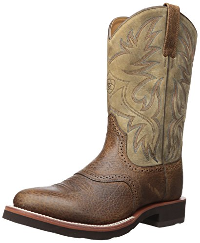 Ariat Men's Heritage Crepe Western Boot, Earth/Brown Bomber, 12 D US Crepe Sole Western Boots