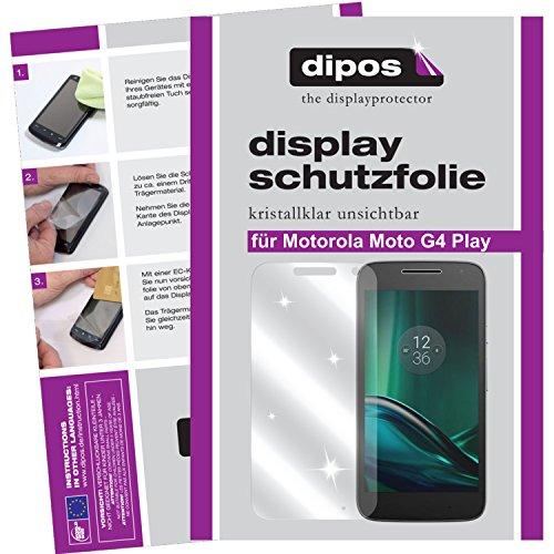 dipos I 2X Schutzfolie klar kompatibel mit Motorola Moto G4 Play Folie Bildschirmschutzfolie