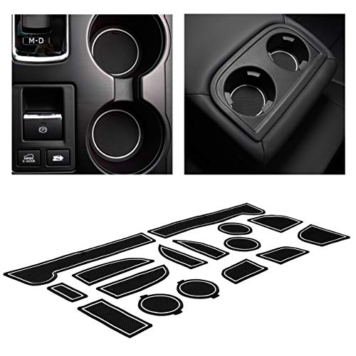 CupHolderHero for Subaru Outback and Subaru Legacy 2015-2019 Custom Liner Accessories – Premium Cup Holder, Console, and Door Pocket Inserts 16-pc Set (White Trim)