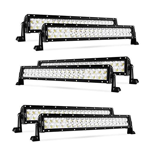 Nilight 6PCS 22' 120W LED Light Bars Flood Spot Combo Work Light Driving Lights Fog Lamp Off Road Lighting for SUV Ute ATV Truck 4x4 Boat
