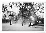 JUNIQE® Paare Schwarz & Weiß Poster 60x90cm - Design