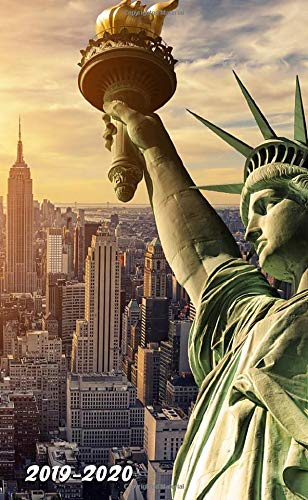 2019-2020: Nifty Statue of Liberty, New York, US Two-Year Monthly Pocket Planner with Phone Book, Password Log and Notebook. Cute Small At A Glance Calendar, Organizer and Agenda. (Pretty Gifts)