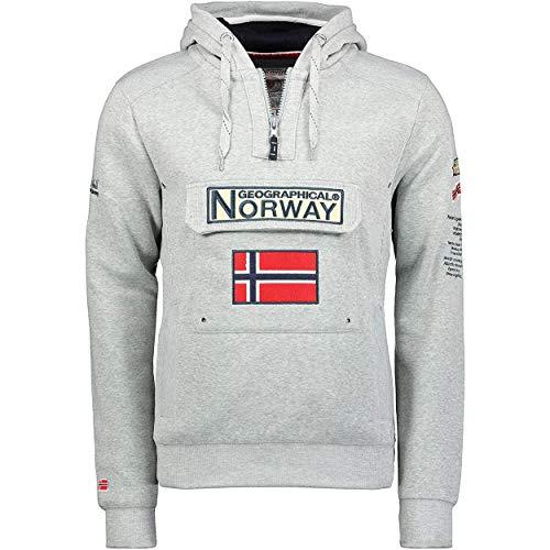 Geographical Norway GYMCLASS Men - Sudadera Capucha Bolsillos Hombre - Chaqueta Casual Hombres Abrigo - Camisetas Camisa Manga Larga - Hoodie Deportiva Regular Fitness Jacket Tops (Gris Claro L)