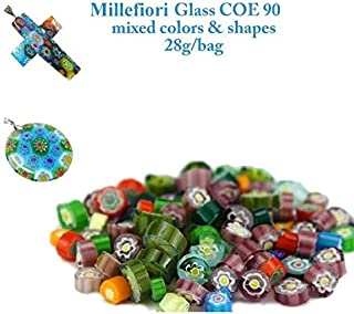 3bags/lot Frit Millefiori Glass & Millefiori Glass Bead Making in Microwave Kiln