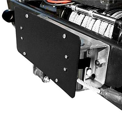 Razer Auto Winch Roller Fairlead License Plate Bracket Mount Universal Jeep Truck Wrangler