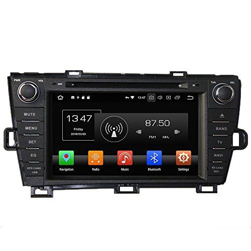 Android 9.0 Octa Core Autoradio Voiture GPS Lecteur Multimédia DVD Radio stéréo pour Toyota Prius 2009 - 2013 gauche Conduite soutient Commande au volant avec WiFi Bluetooth sans carte SD