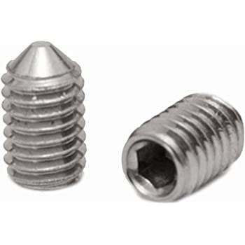 100 St/ück ISO 4026 - SC913 - Madenschrauben V2A Gewindestifte mit Kegelkuppe und Innensechskant Antrieb - aus rostfreiem Edelstahl A2 DIN 913 M5x16 -