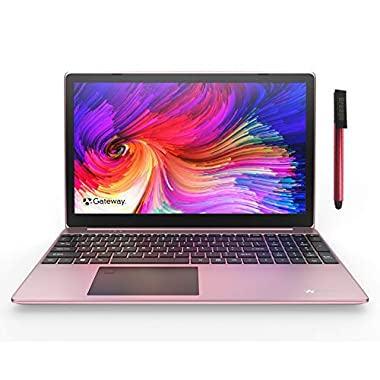 Gateway 15.6″ FHD Ultra Slim Laptop Computer_ Intel Quad-Core i5 1035G1 up to 3.6GHz(Beat i7-8565U)_ 16GB DDR4 RAM_ 256GB SSD_ Fingerprint Scanner_ HDMI_ Windows 10_ BROAGE 64GB Flash Drive_ Rose Gold