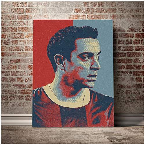ZGHDHR Xavi Hernandez Hopestyle Posters e impresiones Pintura en lienzo Imágenes artísticas de pared para la decoración de la sala de estar Carteles Pinturas -50x70 Cm Sin marco 1 Uds