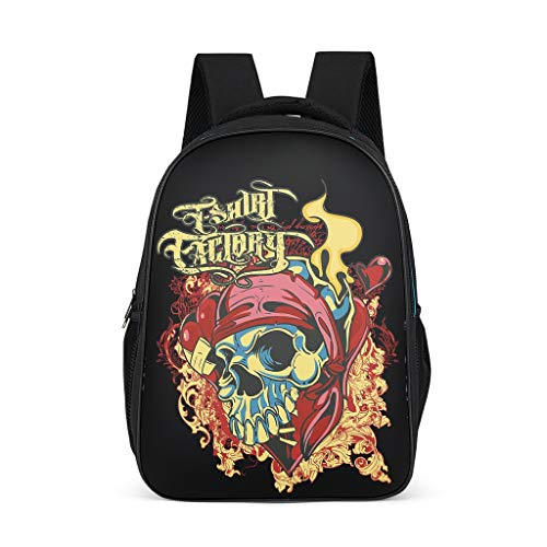 Cyliyuanye Color Skull Fashion Kids' Backpack School Book Bag For kids Adults Gift For Boys Girls bright gray onesize