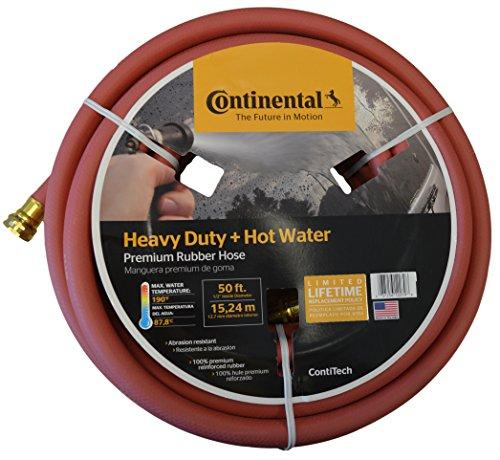 Continental Premium Hot Water Heavy Duty Black EPDM Garden Hose, 5/8' ID x 50'