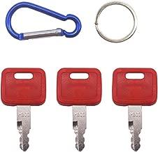 3 PCS Ignition Key H800 AT194969 AT147803 for John Deere Case Dozer New Holland