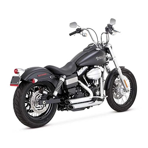 Scarichi Marmitte Shortshots Staggered Vance & Hines Cromati x Harley Davidson Dyna, Bob FXDB, Low Ride FXDL, Fat Bob FXDF, Wide Glide FXDWG, Super Glide FXD DAL 2012 AD OGGI 12-UP
