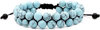 Chakra Bracelets Beaded Lava Rock Stone Healing Balance Energy Yoga Bracelet Pack of 1 or 3