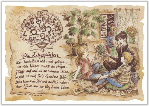 Die Staffelei Geschenk Logopäden Logopäde Logopädie Zeichnung Color 30 x 21 cm