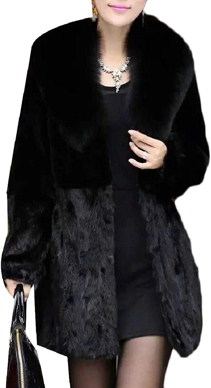 Xswsy XGCA Women's Thick Soft Fluffy Faux Fur Coat Cardigan Parka Jacket Outerwear