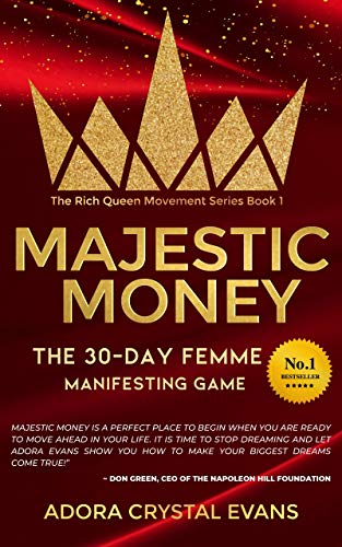 Book's Cover of Majestic Money: The 30-Day Femme Manifesting Game to Learn the Secrets to Miracles, Success , and Self Love (The Rich Queen Movement Series Book 1) (English Edition) Versión Kindle