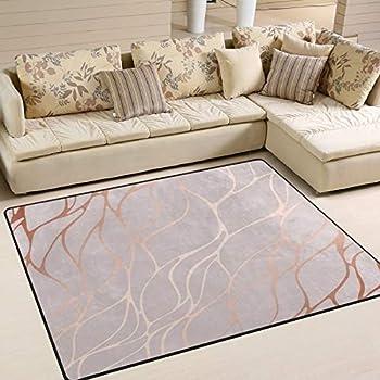 Best rose gold area rug Reviews
