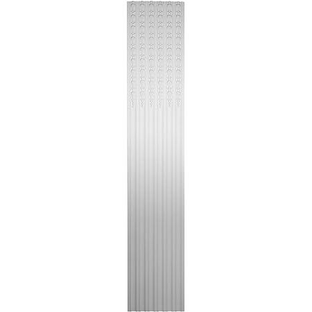 Each Ekena Millwork PIL17X94X01BE 17 5//8 W x 94 1//2 H x 1 7//8 P Benson Fluted Pilaster Factory Primed White