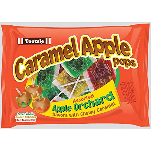 Tootsie Assorted Caramel Apple Lollipops Pack 1125oz