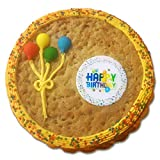 Happy Birthday Cookie Cake - Chocolate Chip - Freshly Baked and Decorated - Perfect Birthday Gift