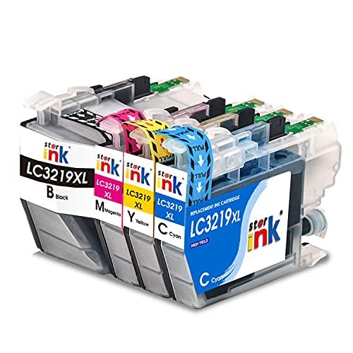 st@r ink Patronen Kompatibel mit Brother LC-3219XL LC3217 Multipack Druckerpatronen für Brother MFC-J5330DW J5335DW J5730DW J5930DW J6530DW J6930DW J6935DW All-in-One Drucker 4er Pack