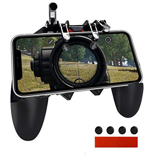 Ozkak Mando para Movil PUBG Controlador de Juego móvil Universal Gatillos Gamepad Joystick de Disparo y apuntar L1R1 L2R2 Gatillo para Android iOS iPhone Samsung Huawei Smartphone Ancho de 7 a 9,5 cm