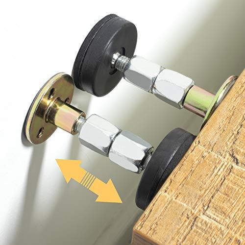 SZZSAF - Tapones para cabecero de cama, herramienta antivibración, soporte telescópico para pared de habitación, fácil de instalar (2.52-3.54 pulgadas)