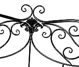 hlc Banco de jardín de Hierro Forjado, Inoxidable y Plegable- Color Negro, Elegir, 133 * 49 * 90cm