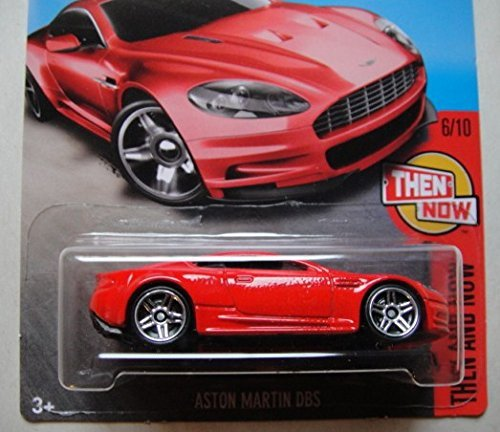 HOT WHEELS SPRING EXCLUSIVE THEN AND NOW RED ASTON MARTIN DBS 106/250 SHOWDOWN SCAN & RACE CARD