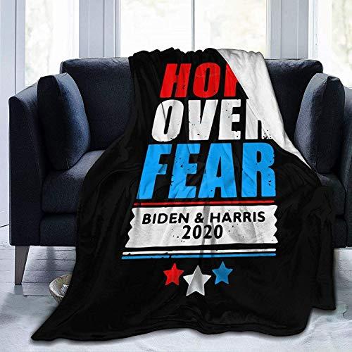 DUTRIX Hope Over Fear Joe Biden Kamala Harris - Mantas de microforro polar supersuaves, mantas de aire acondicionado, camas de microfibra, mantas de sofá, 152 x 127 cm