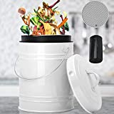 Compost Bin for Kitchen Counter, LALASTAR 1 Gallon Kitchen Compost Bin for Kitchen