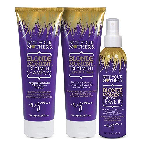 Not Your Mother's Blonde Moment Anti-Brass Hair Care System, Shampoo, Conditioner and Leave in...