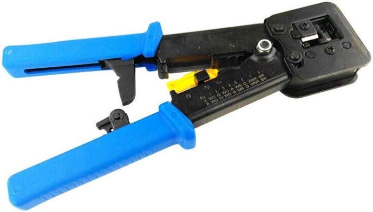 SMITON RJ45 Professional Crimper Tool Pass Through Cat5 Cat5e Cat6 Crimping Tool for RJ452 Regular and End-Pass-Through connectors…