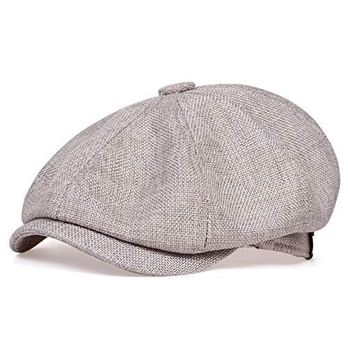 Sombrero de Vendedor de periódicos Informal de los nuevos Hombres Sombrero de Boina Retro de Primavera y otoño Sombreros Casuales Salvajes Unisex Gorra Octagonal Salvaje-Gray-56-62CM