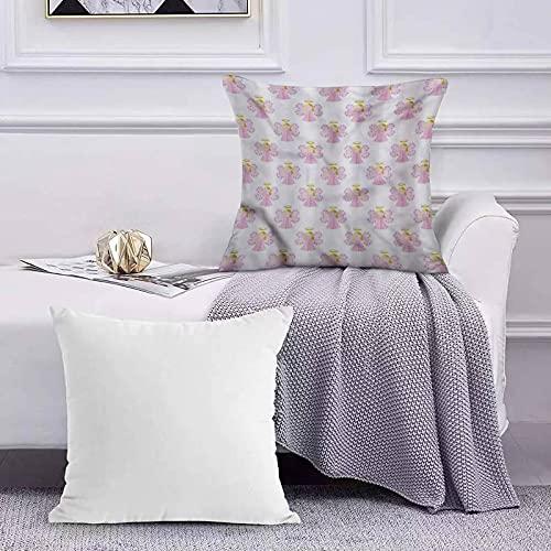 Ccstyle Funda de Cojín Funda de Almohada del Hogar Angel Cute Fairy Girl con Halo,Square Soft and Cozy Pillow Covers,