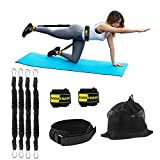 TOCO FREIDO Booty Resistance Belt Bands, Resistance Belt/Resistance Exercise Bands with Adjustable Waist Belt, Legs and Butt Ankle Workout Equipment Exercise for Legs,Butt,Glutes Muscles Trainer