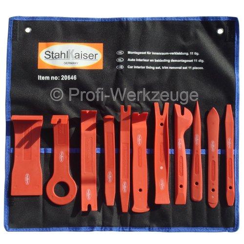 11-TLG. Zierleisten-Set Zierleisten Werkzeug Set Montage-Hebel Innenraumverkleidung Montierhebel Trennhebel